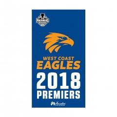 Henselite AFL Dri Tec Towel - West Coast 2018 Premiers